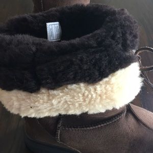 UGG Shoes - Ugg Australia Brown Leather Sheepskin Boots